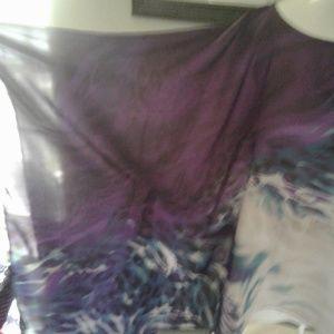 Chico's Tops - 💜 Chico's Purple & Cream Tunic 💜